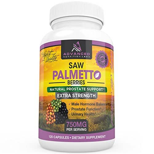 Saw Palmetto Extra Strength 1500 mg per Day 120 Capsules (750mg per Capsule) Prostate Health Supplements For Men