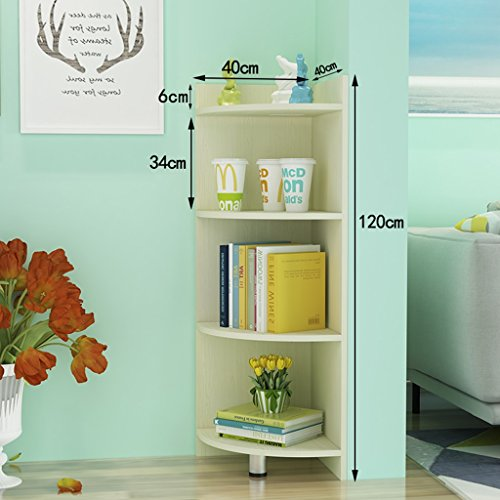 Bookcases Modern Corner Cabinet Simple Dormitory Display Stand Floorstanding Corner Color Optional (Color : White maple color)