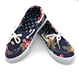 Blue Berry EASY21 Baby Toddler Girs Canvas Casual Sneaker Shoes,Dark Denim Flower82,1 M US Little Kid