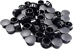 "Cyful Panel Plugs Hole Plugs (Mounting Hole: 18.9-19mm), Plastic Flush Type Hole Plugs, Home Furniture Fastener, Plastic Pipe Choke Plug Black 3/4"" (50 Pcs)"