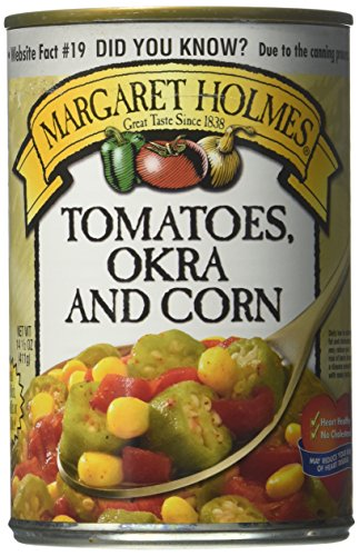 Margaret Holmes, Tomato, Okra & Corn, 14.5oz Can (Pack of 6)