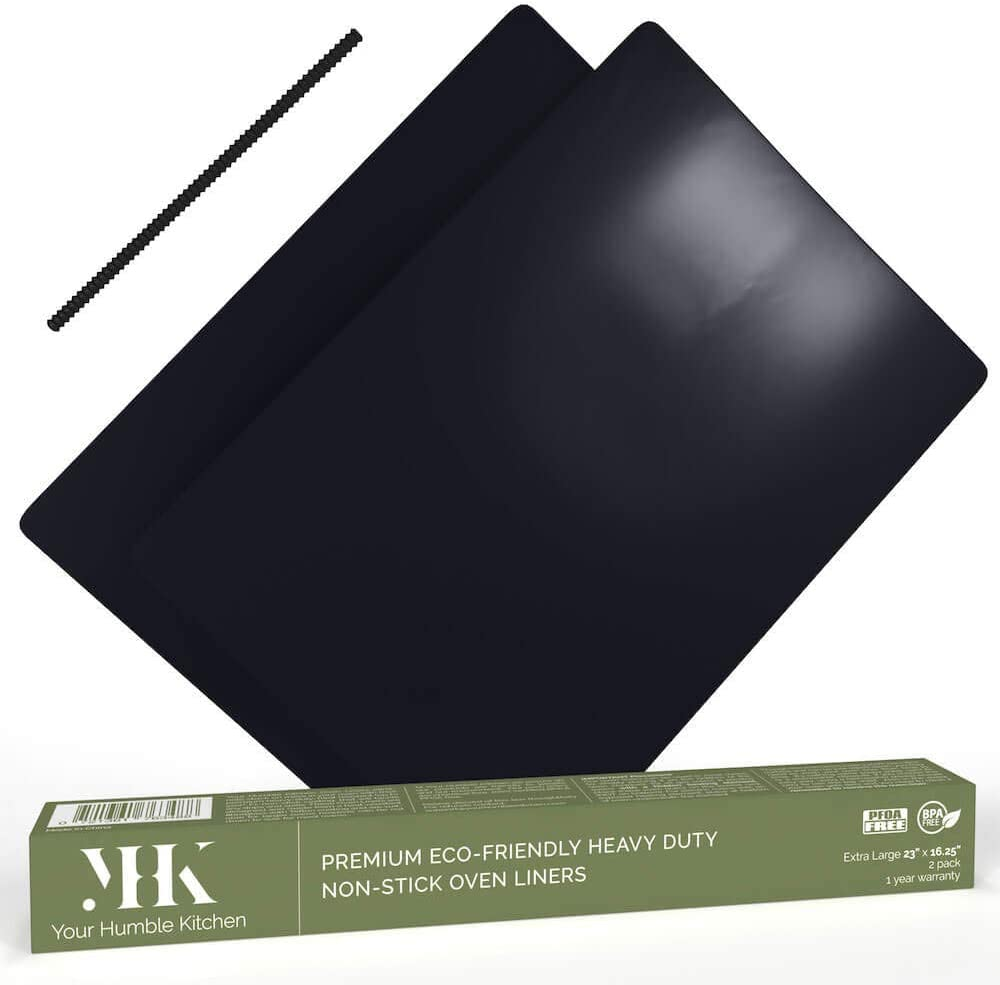 B071FH8432 YHK 2 Pack Large Non-Stick Oven Liners - Premium Heavy Duty Mat for the Bottom of Electric, Gas, Convection, Toaster & Microwave Ovens - Certified Protector BPA & PFOA Free 51JrVMNhyAL