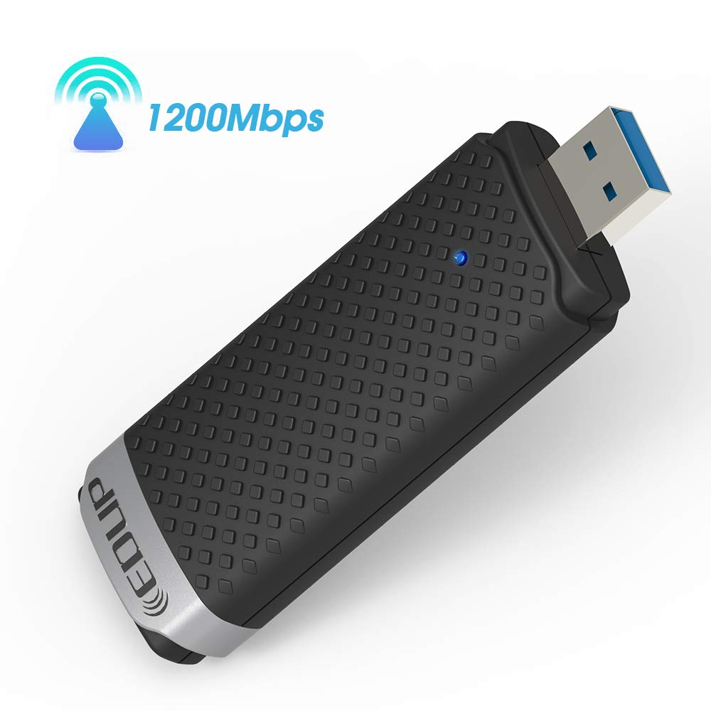 WiFi Adapter AC1200Mbps EDUP USB 3.0 Wireless Adapter 5GHz/2.4GHz Dual Band 802.11AC WiFi USB for PC/Desktop/Laptop,Support Win 10/8.1/7/XP/Mac OS 10.9-10.13