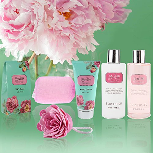 Bath And Body Relaxing Bath Spa Kit For Men, Women and Teens, Gift Set Bath And Body Works- Natural English Rose Spa…