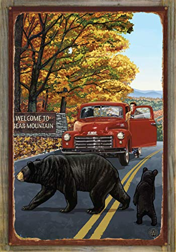 Northwest Art Mall Bear Mountain New York Truck with Sign Rustic Metal Print on Reclaimed Barn Wood by Paul A. Lanquist (24