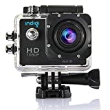 Indigi WiFi 4K + 1080P Full HD Helmet Waterproof Sports Action Camera Camcorder Wide Angle Sports DV Cube NEW!