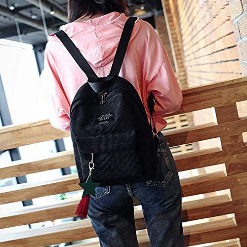 VHVCX Mochila Pour Dos À A Style Jeunes Casual Mode Toile Tassel À Femmes Preppy École Feminina Sac Sacs Dos Filles TqTr6