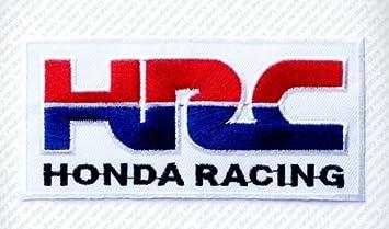 HRC Honda - Parche de velcro bordado para moto (BTDW)