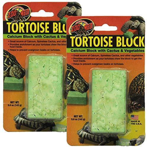 Zoo Med Laboratories SZMBB55 Tortoise Banquet Block, Net WT 5 oz, 2 -