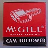 McGill CFH2S Cam Follower, Heavy Stud, Sealed/Slotted, Inch, Steel, 2'' Roller Diameter, 1-1/4'' Roller Width, 2'' Stud Length, 1-1/8'' Thread Size, 3-9/32'' Overall Length, 1-1/8'' Stud Diameter