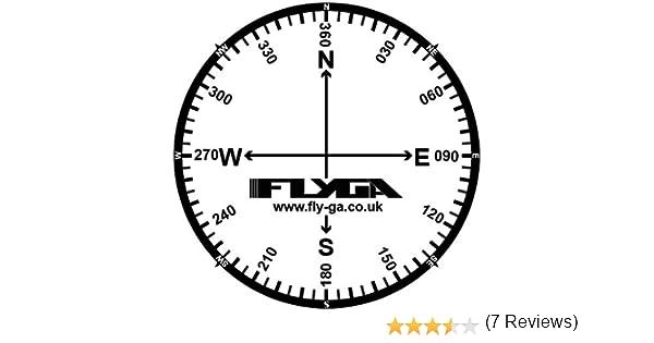 Brújula rosa vuelo mapa pegatinas (12 Pack) – para PPL (un), lapl, PPL (H) & CPL pilotos de aviación: Amazon.es: Oficina y papelería