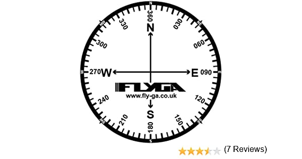 Brújula rosa vuelo mapa pegatinas (12 Pack) – para PPL (un), lapl ...