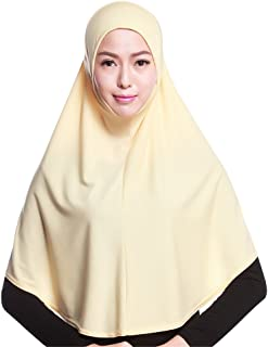 GladThink Womens Muslim Hijab Scarf With More colors Black