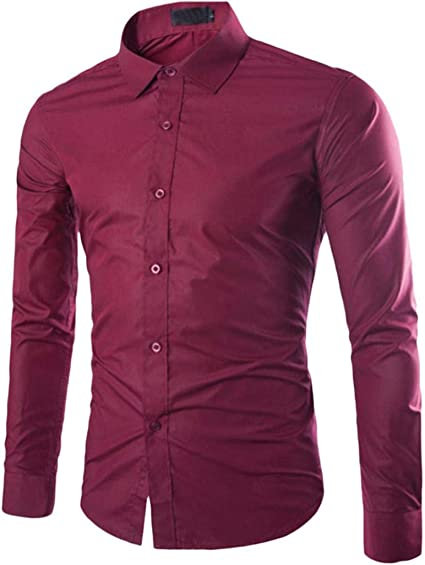 STRIR Hombre Camisa Moda Casual Button Down Slim Fit Dress Shirt ...
