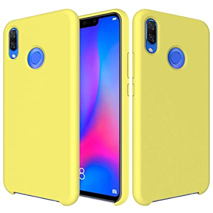 CoverTpu Funda Huawei P Smart Plus Silicona, Amarillo Funda ...