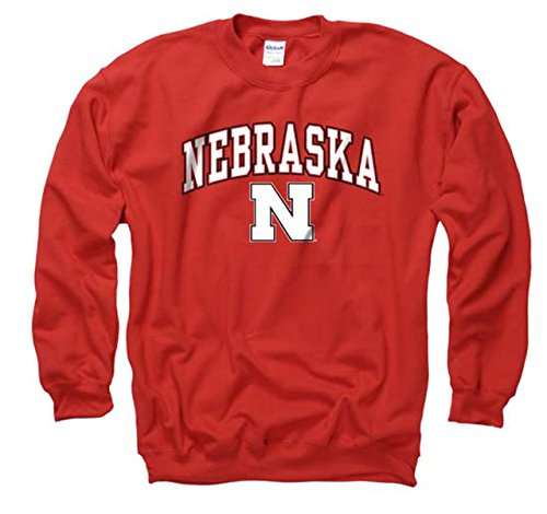 Campus Colors Nebraska Cornhuskers Adult Arch & Logo Gameday Crewneck Sweatshirt - Red, Large