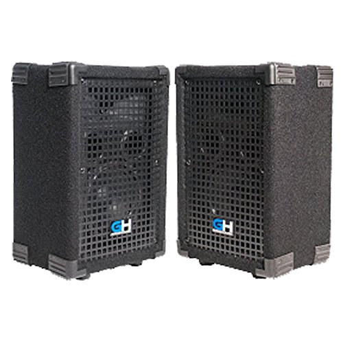 Grindhouse Speakers - GH6L-Pair - Pair of Passive 6 Inch 2-Way PA/DJ Loudspeaker Cabinets  - 400 Watt each Full Range PA/DJ Band Live Sound Speaker 400 Watt 2 Way Pa