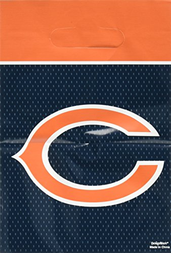 Amscan Chicago Bears Collection Loot Bags, Party Favor, 48 Ct. (Favors Chicago Party Bears)