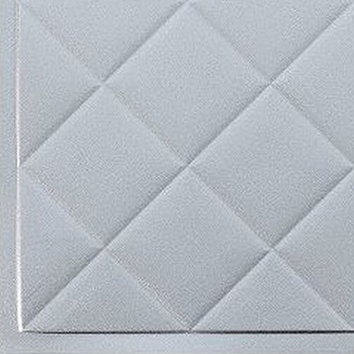 Mini Quilted Backsplash Tiles Kitchen Bathroom Shower Decorative Wall Paneling, Argent Silver, 6''x6'', Sample