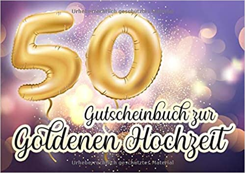 Gutscheinbuch Zur Goldenen Hochzeit Blanko Gutscheinheft