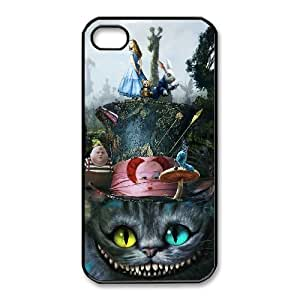 Unique Design Cases iPhone 4,4S Cell Phone Case Alice In Wonderland Cheshire Cat Pcbys Printed Cover Protector