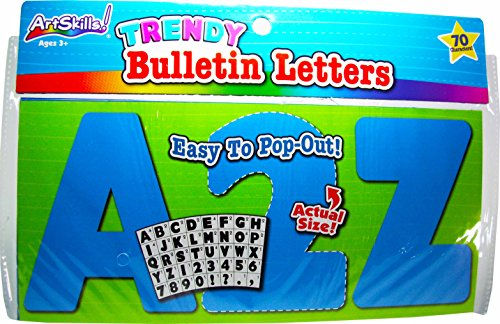 Trendy Uppercase Bulletin Letters - Blue (70 Characters) -