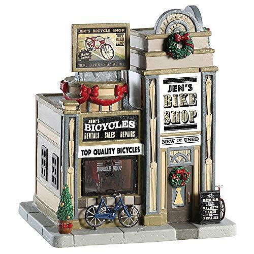 The Bike Shop Big (Village Collection Lemax Christmas Village Building, Jen's Bike Shop)