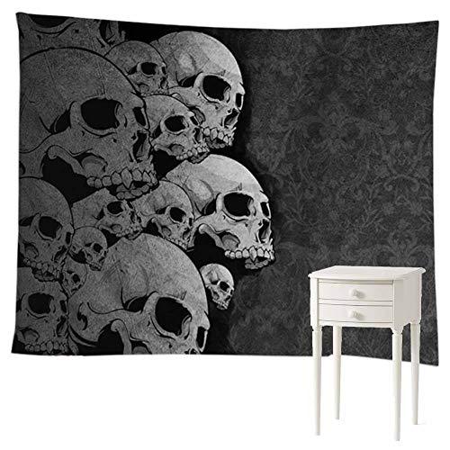 Wall Decor Hanging Blanket Grey Black Color Skull