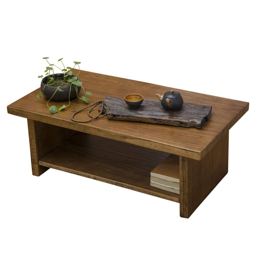 ティーテーブルソリッドウッドの窓の窓のテーブルのバルコニー小さなテーブルの畳のコーヒーテーブル低テーブル (Color : Brown, Size : 70*45*30cm) B07KQT3HJ9 Brown 70*45*30cm