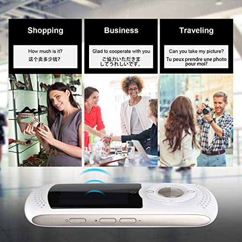 Weikin Portable Language Translator Device 2.0inch Touch Screen Smart Real Time Instant Voice Translation Support 45 Languages WiFi and 4G Dual Mode for Learning Travel Shopping Business(White) … by weikin (Image #4)