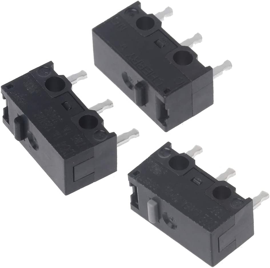 mengersty 1PC Original Cherry Mouse Micro Switch DG2 T85 0.05A 30VDC DG4 T85 1A 125VAC 1A30VDC DG2 DG4 Gray 1.47N Black 0.74N Point