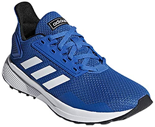 adidas Performance Unisex-Kids Duramo 9 K Running Shoe, Blue/White/Black, 3 M US Little Kid