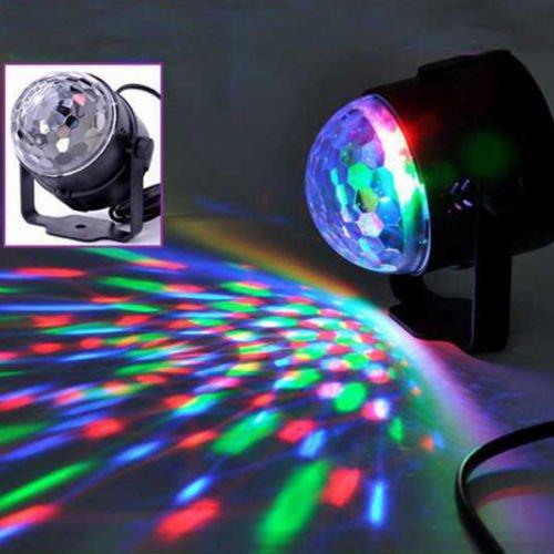 - TOPCHANCES 3W Remote LED DJ Light Voice Control Mini Disco Magic Ball Stage Lighting Digital LED RGB Crystal -7 Colors (MQ-03)