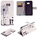 S6 Edge Plus Case,Galaxy S6 Edge Plus Case,JanCalm [Kickstand]Pattern Premium PU Leather Wallet [Card/Cash Slots] Flip Cover for Samsung Galaxy S6 Edge+ /S6 Edge Plus(Boys and girls)