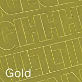 "Graphic Products Permanent Adhesive Vinyl Letters and Numbers (160/pkg), 3"", Gold"