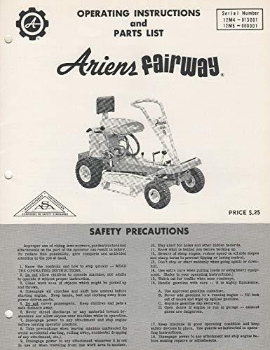ARIENS FAIRWAY RIDING LAWN MOWER OPERATORS/PARTS MANUAL FPB-66R2 (486)
