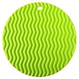 Voberry Kitchen Round Type Insulation Hot Pad Silicone Pot Holder (Green)