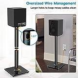 PERLESMITH Universal Floor Speaker Stands 26 Inch