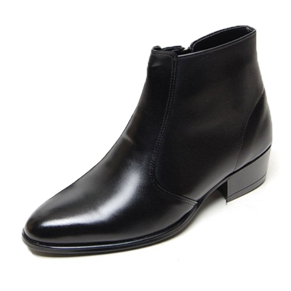 545252f4a4b EpicStep Men's Genuine Cow Leather Dress Shoes Formal Casual Zipper Ankle  Boots