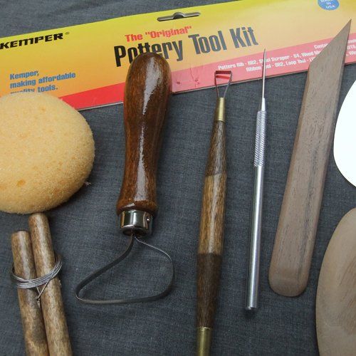 Kemper Pottery Tool Kit: The Original 8-Piece Pottery Tool Set - Kemper Ribbon Tool