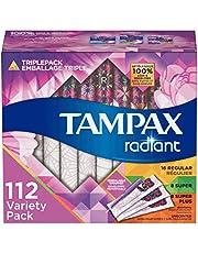 Tampax Radiant Plastic Tampons, Regular/Super Absorbency Duopack