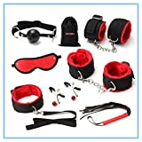 MUQU Ribbon Restraint for Sex Play Leather Sex Toys for Couples Under Bed Restraint red