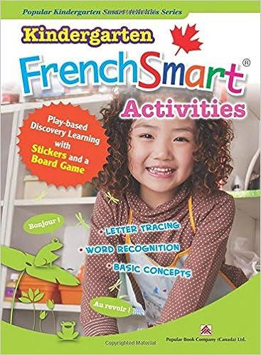 Kindergarten Frenchsmart Activities Popular Book Company