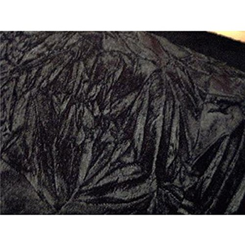 SyFabrics crushed velvet fabric 44 inches wide Black