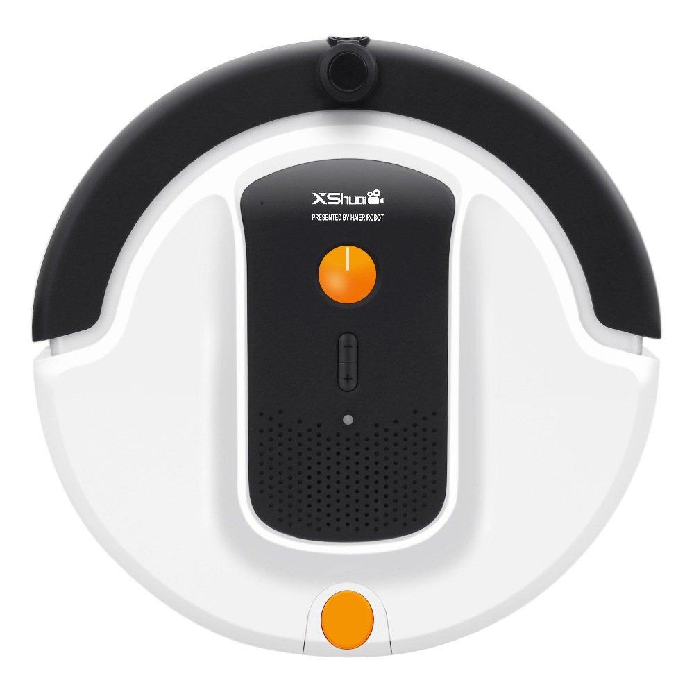 Haier Xshuai Aspirador de carga automática con WIFI, cámara incorporada y soporte de Amazon Alexa Atrapa el pelo de mascotas.Silencioso. Potente.
