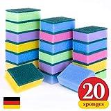 Kitchen Cleaning Sponges Scrub Sponge! Longer Lasting Scrub Sponge Set Made in Germany! (Pack of 20)