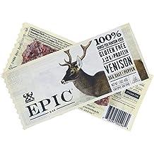 Epic (Sample) All Natural Meat Bar, 100% Grass Fed, Venison, Sea Salt & Pepper, 1.5 ounce bar