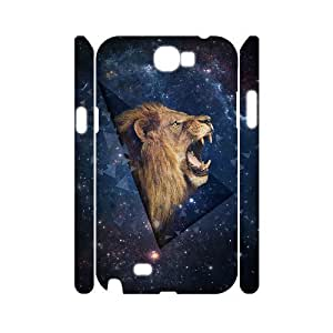 Lion Custom 3D Cover Case for Samsung Galaxy Note 2 N7100,diy phone case ygtg541838