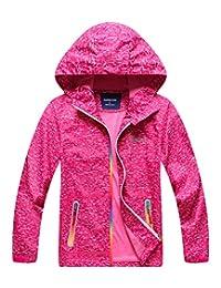 Hiheart Boys Girls Outdoor Lightweight Hooded Jackets