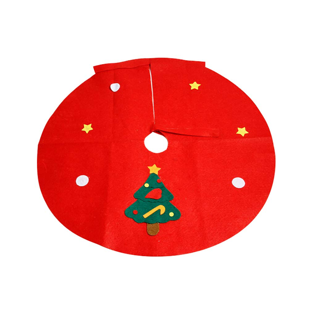 Yinpinxinmao Christmas Tree Santa Snowman Style Floor mat.Ground Cover Apron Party Xmas Decoration Christmas Tree# L
